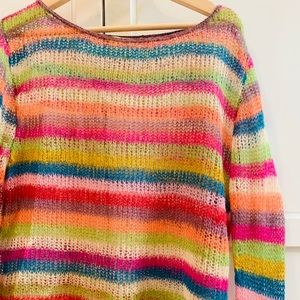 Relais Knitware Sweaters - Relais multicolor knit striped sweater